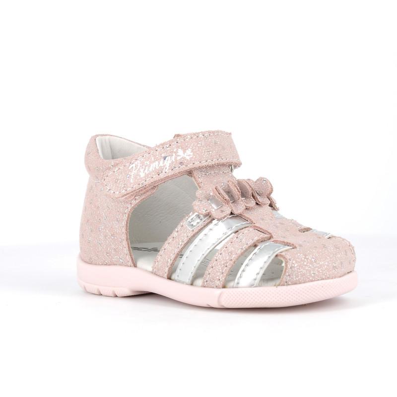 Sandale cu detalii strălucitoare și aplicație florală, roz  242438