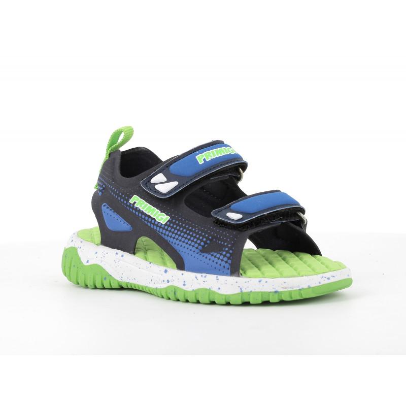 Sandale cu detalii verzi, albastru închis  242468