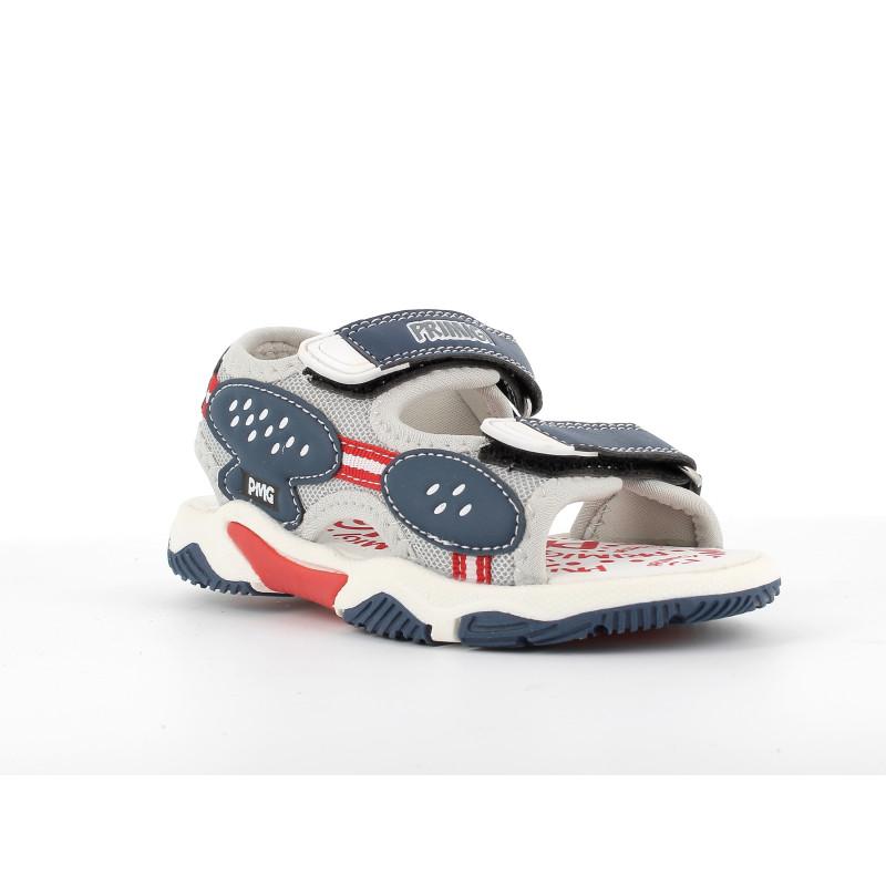 Sandale cu detalii albastru închis, gri  242492