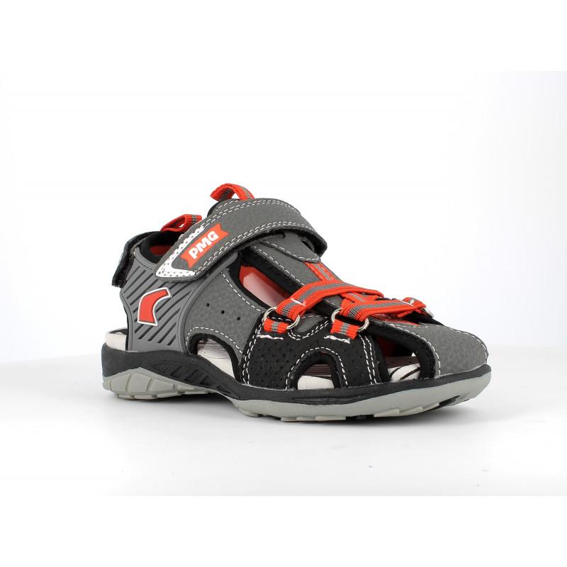 Sandale cu detalii portocalii, gri  242495