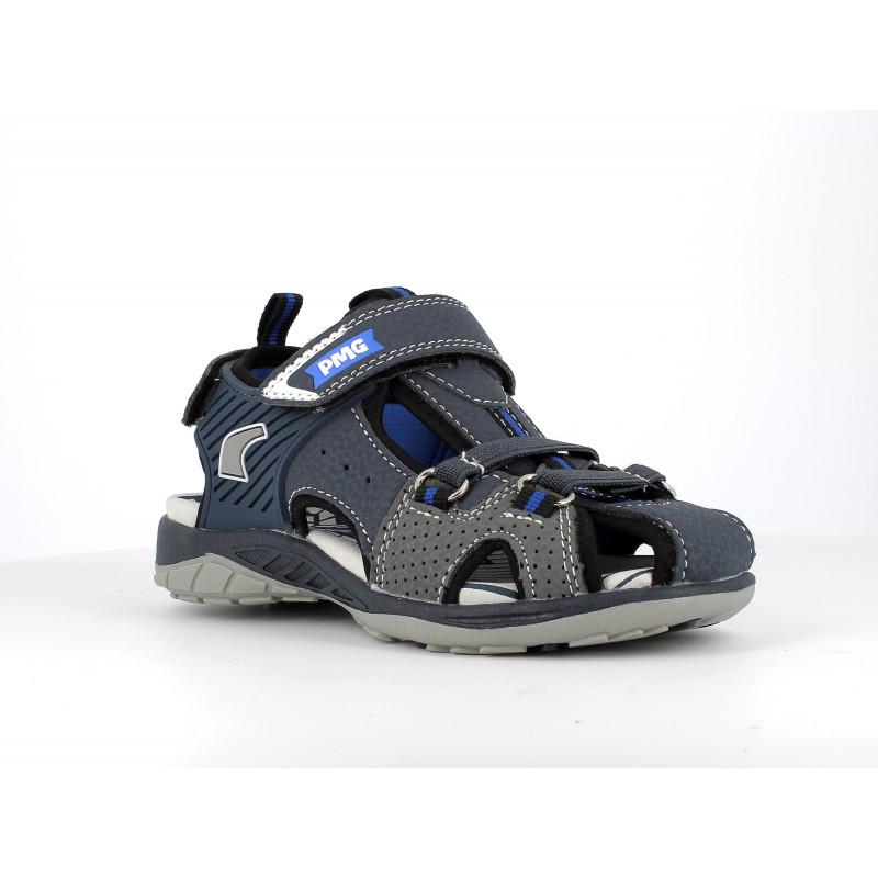 Sandale cu detalii gri, albastru închis  242498