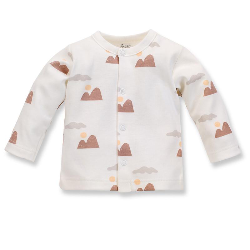 Cardigan pentru bebeluși din bumbac alb  242532