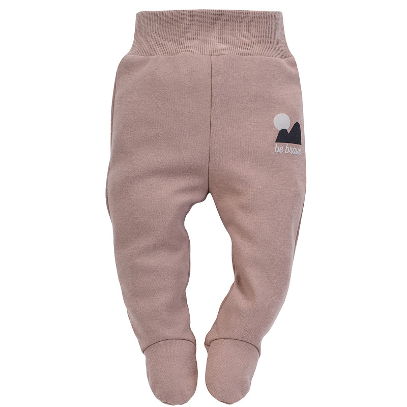 Pantaloni cu botoși din bumbac, pentru bebeluși, roz  242535