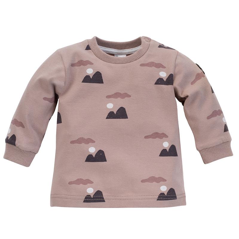 Hanorac din bumbac cu imprimeu grafic pentru bebeluș, roz  242547