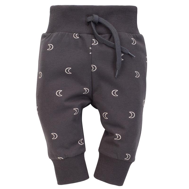 Pantaloni din bumbac cu imprimeu grafic pentru bebeluș, gri  242554