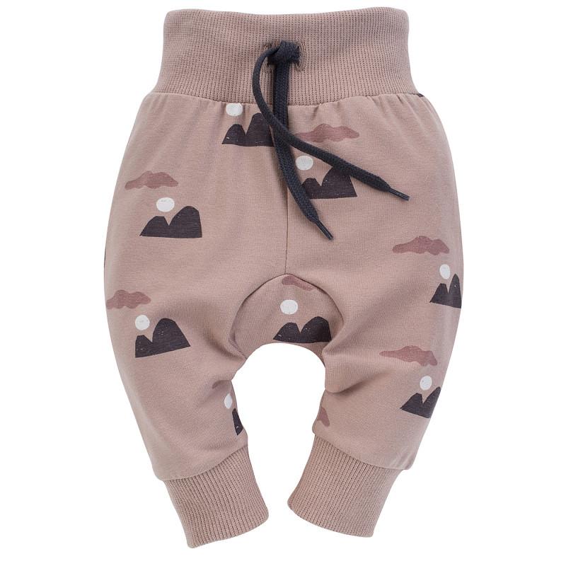 Pantaloni din bumbac cu imprimeu grafic pentru bebeluș, roz  242556