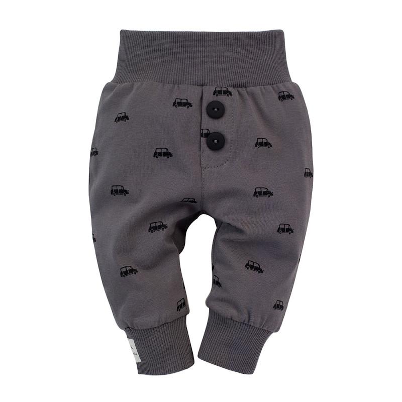 Pantaloni pentru bebeluși din bumbac, gri  242741