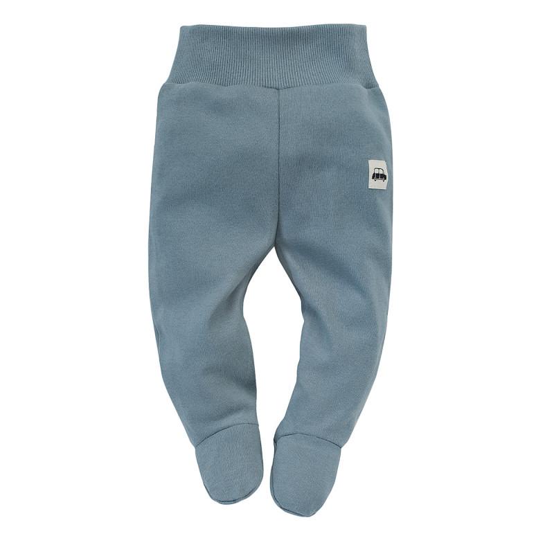 Pantaloni cu botoși din bumbac pentru bebeluș, albaștri  242746