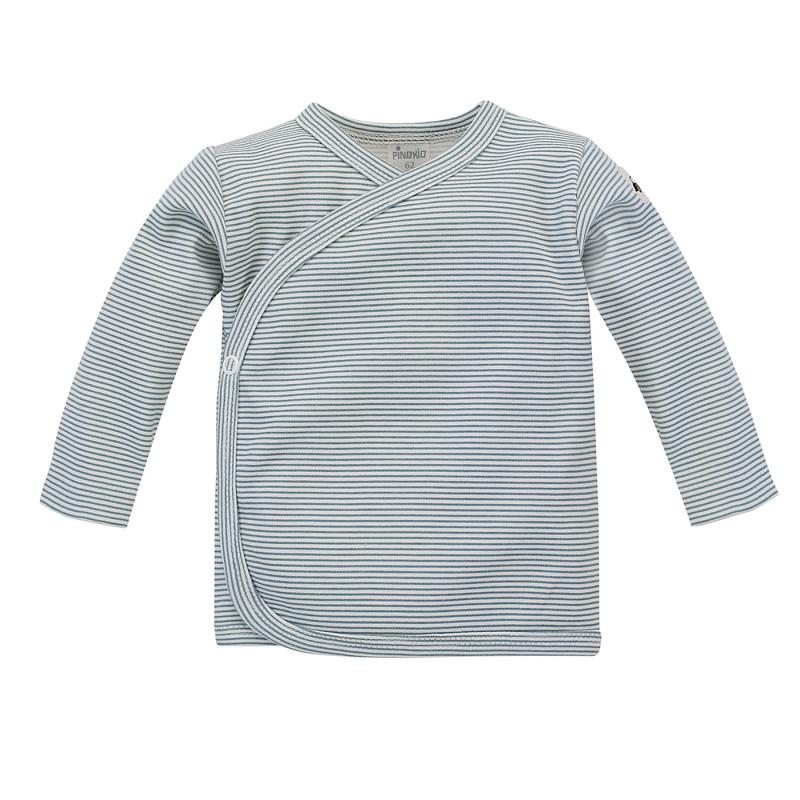 Cardigan din bumbac în dungi albe și albastre pentru bebeluș  242794