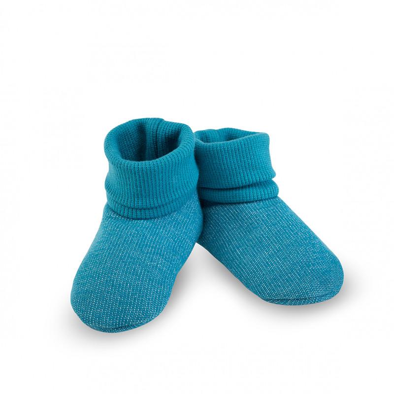 Încălțăminte moale pentru bebeluși, albastră  242798