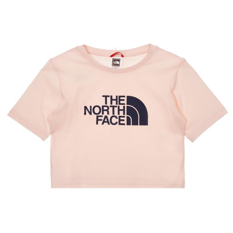 Tricou din bumbac cu logo-ul mărcii, pe roz  243593