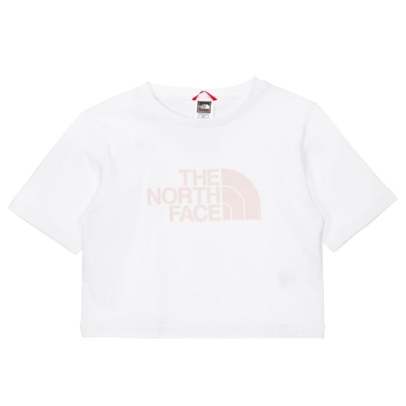 Tricou din bumbac cu sigla mărcii, de culoare albă.  243617