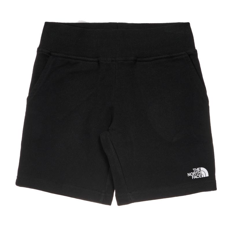 Pantaloni scurți din bumbac cu sigla mărcii, negri  243621