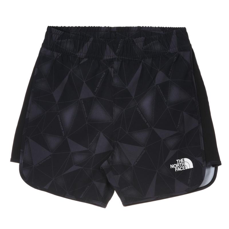 Pantaloni scurți cu imprimeu grafic, negru  243628