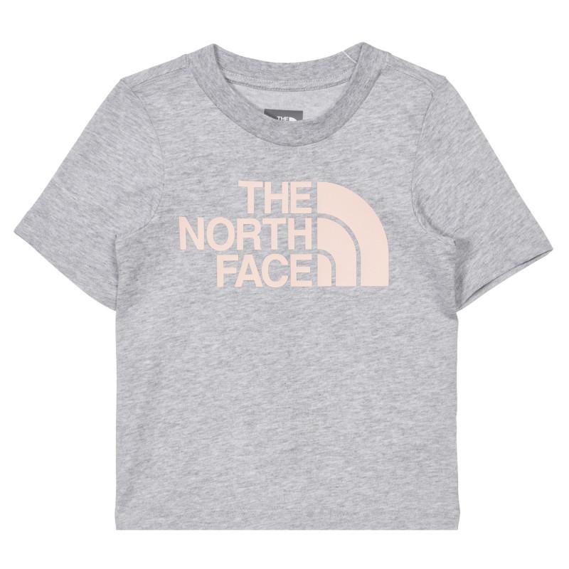 Tricou din bumbac cu sigla mărcii în culoare gri  243632