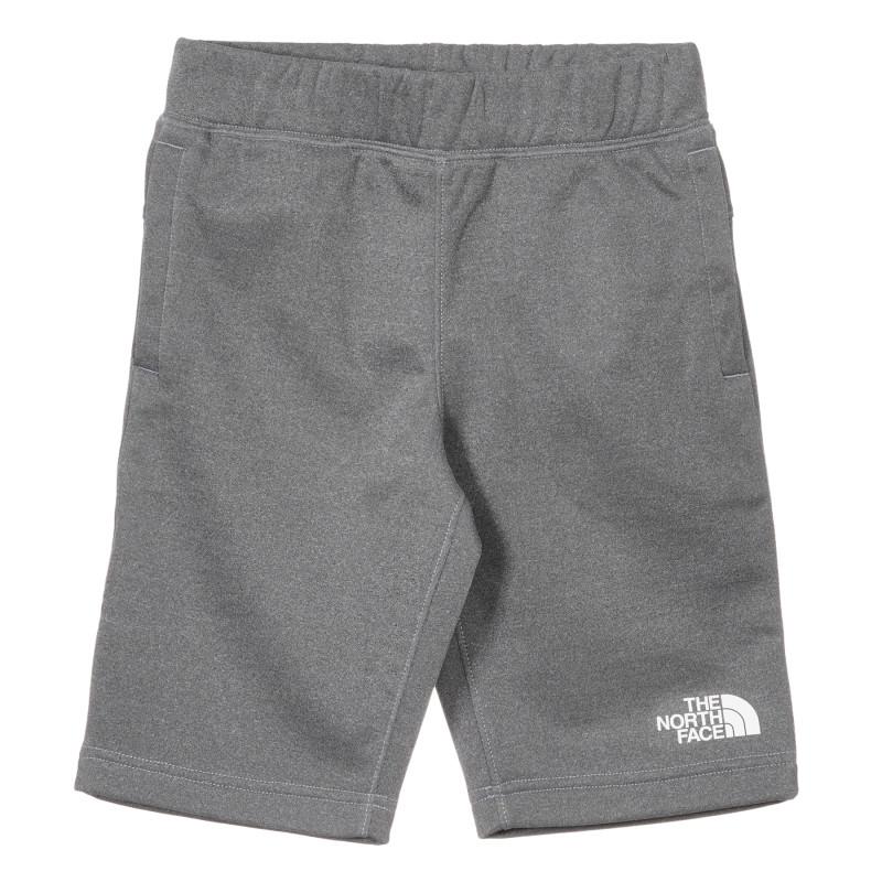 Pantaloni scurți cu sigla mărcii, gri  243640