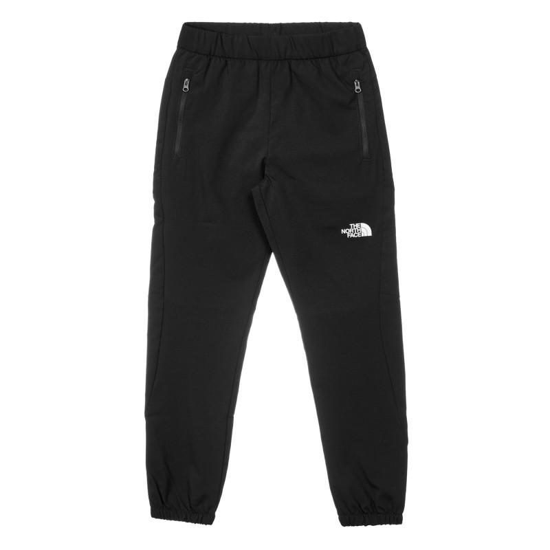 Pantaloni sport din bumbac cu sigla mărcii, culoarea neagră  244210