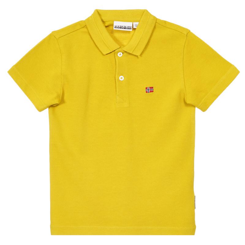 Tricou din bumbac cu guler, în alb  244226