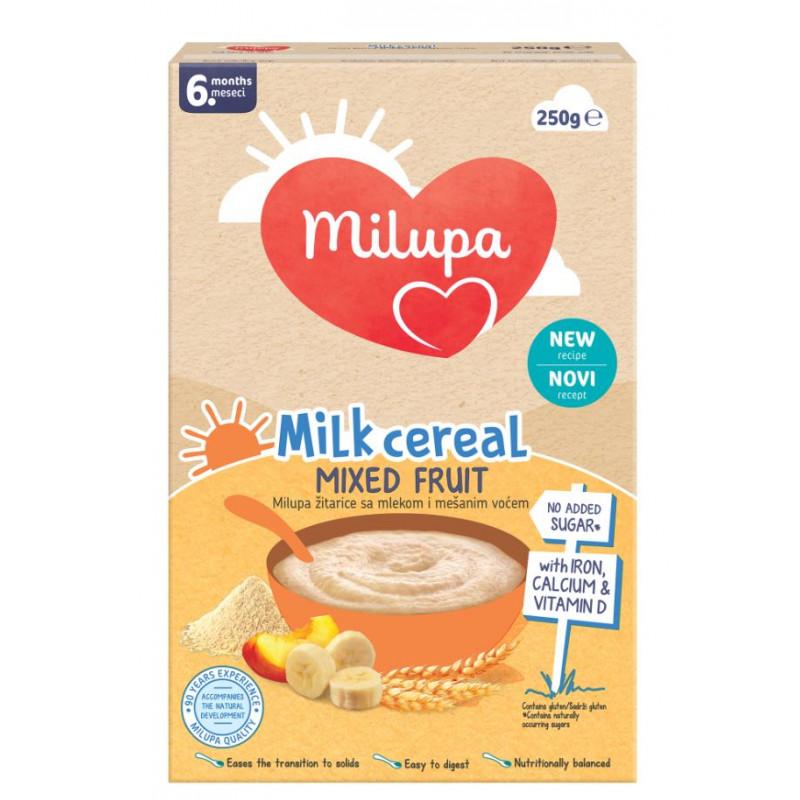 Cereale cu fructe mixte Milupa, 6+ luni, cutie 250 g  247731