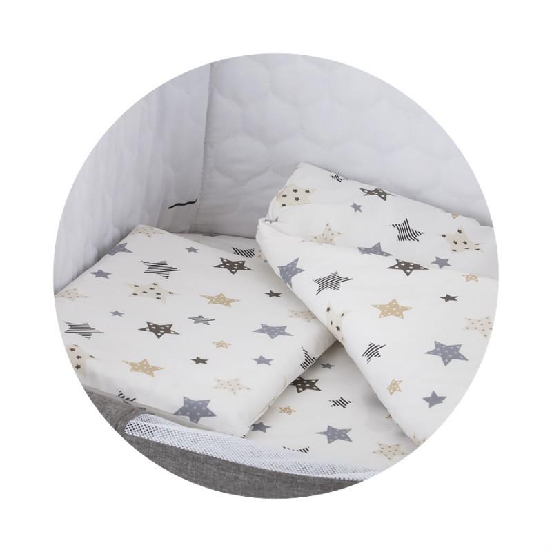 Set de pat pentru patut, Stele, multicolor  256925