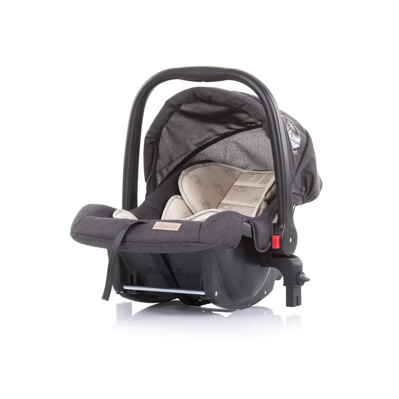 Scaun auto cu adaptoare Adora 0-13 kg, Vanilie  257136