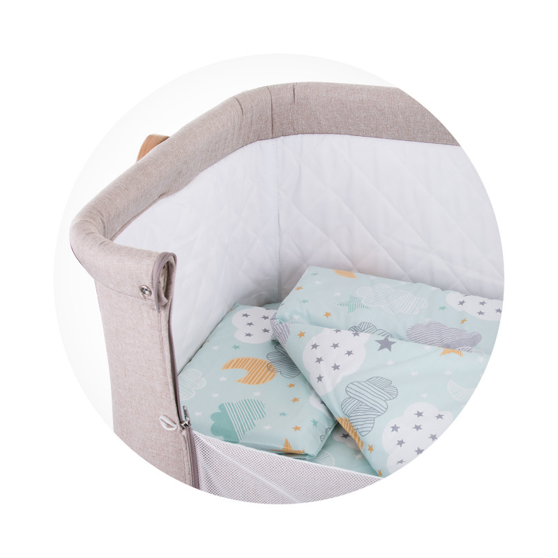 Set de pat pentru pătuț Sky, mentă  257248