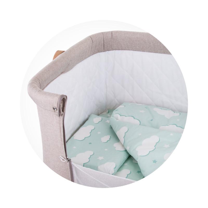 Set de lenjerie de pat pentru patut Norișor, mentă  257250