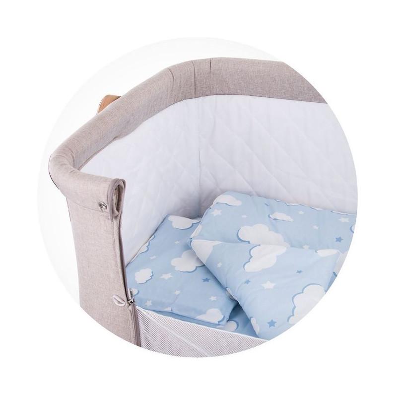 Set de lenjerie de pat pentru pătuț Norișor, albastru  257396
