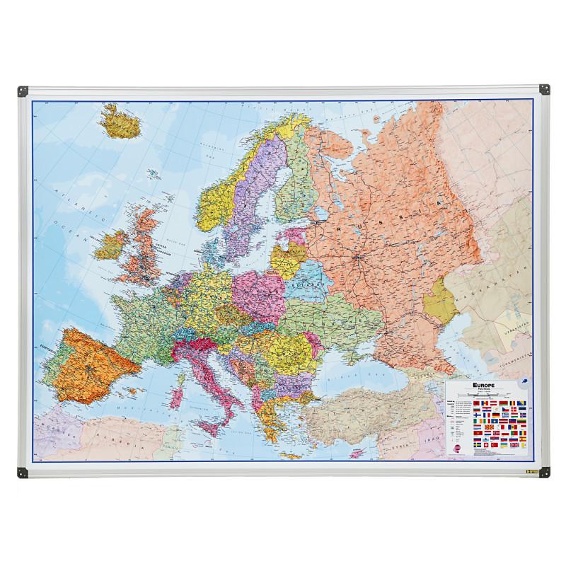 Tablă magnetică - hartă a Europei 90X120 cm  282207