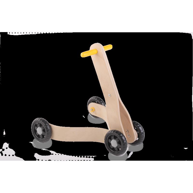Mergător din lemn cu 4 roți  2835