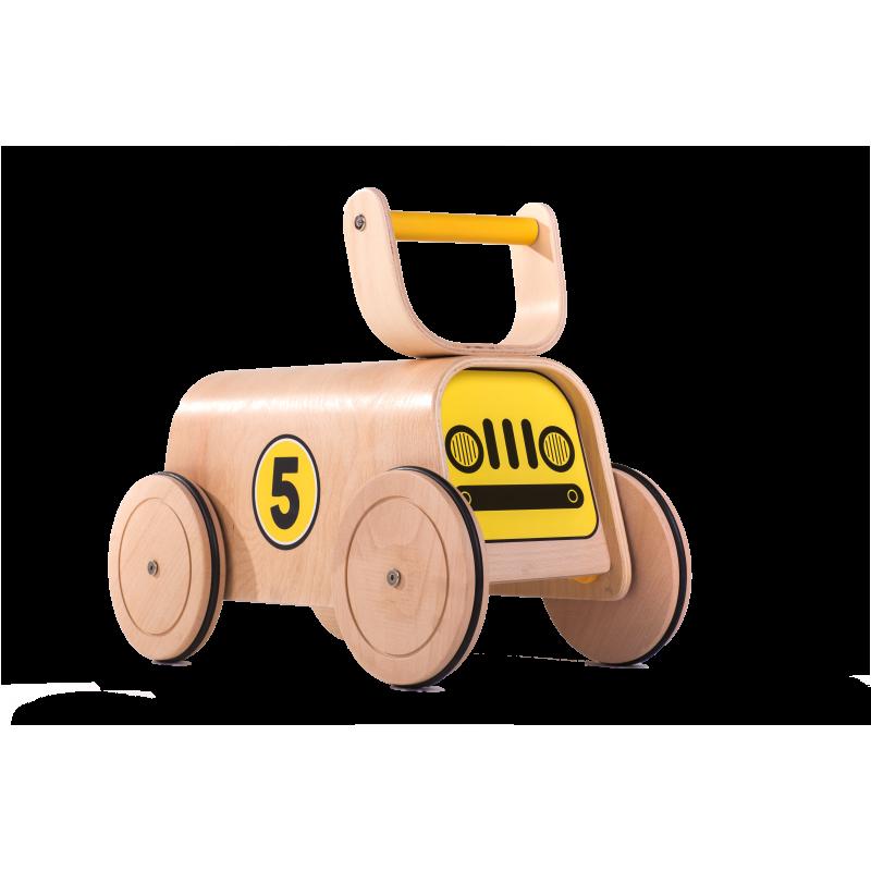Jucărie de lemn cu patru roți mari  2844