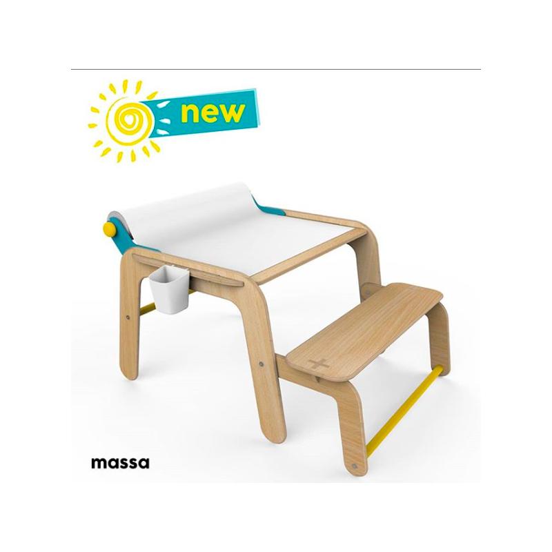 Masă din lemn și mini birou  2866