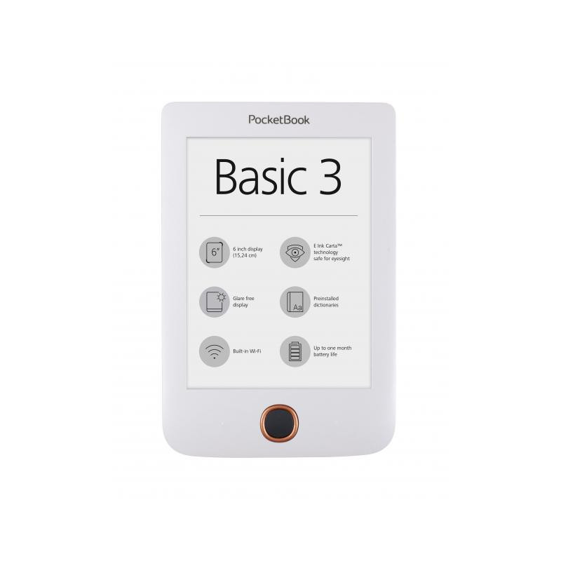 "Basic3 Ebook Pocketbook pb614-2, 6 "", alb  2869"