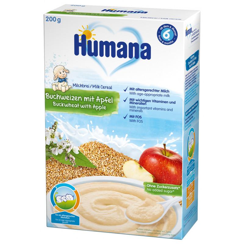 Cereale Humana cu hrișcă și mere de la 6 luni  2960