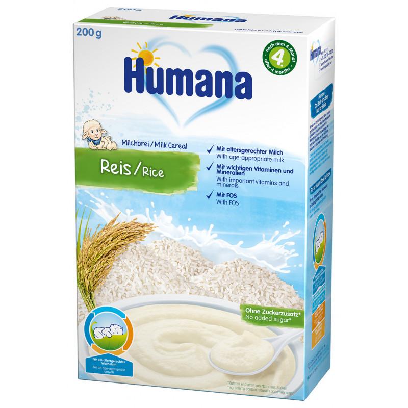 Cereale Humana din orez cu lapte dup 4 luni  2962