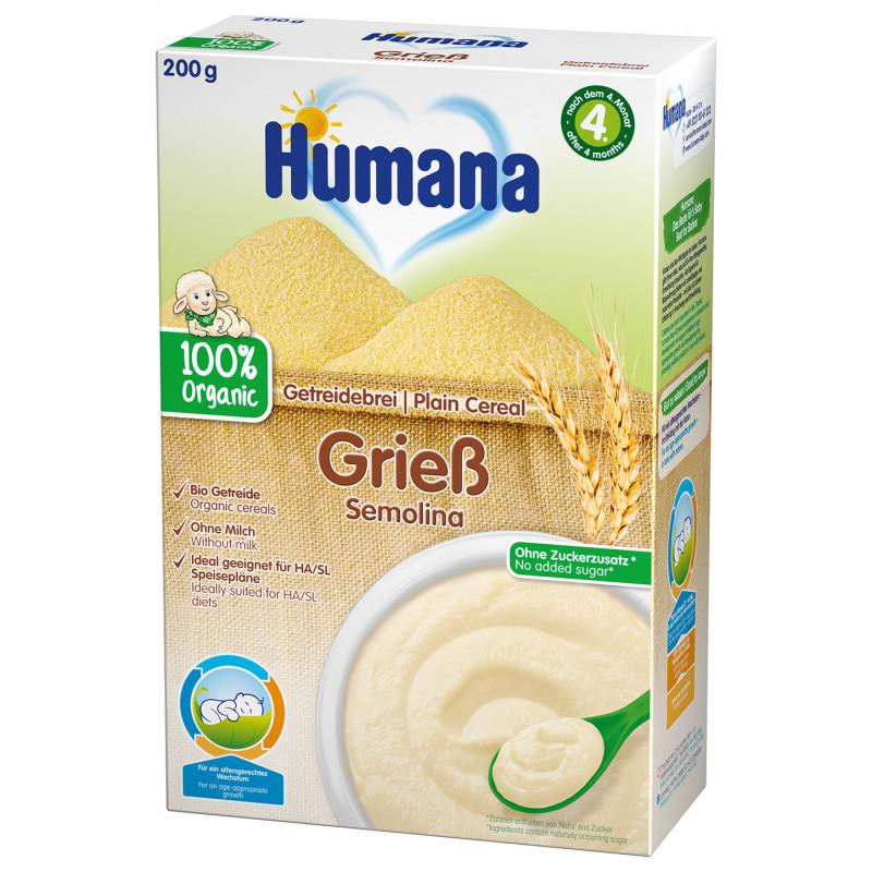 Terci organic fără lapte cu griș, 4+ luni, cutie 200 g.  2967