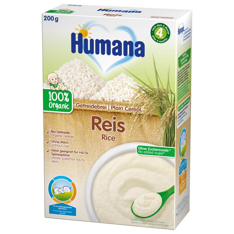 Terci organic fără lapte, cu orez, 4+ luni, cutie 200 g.  2969