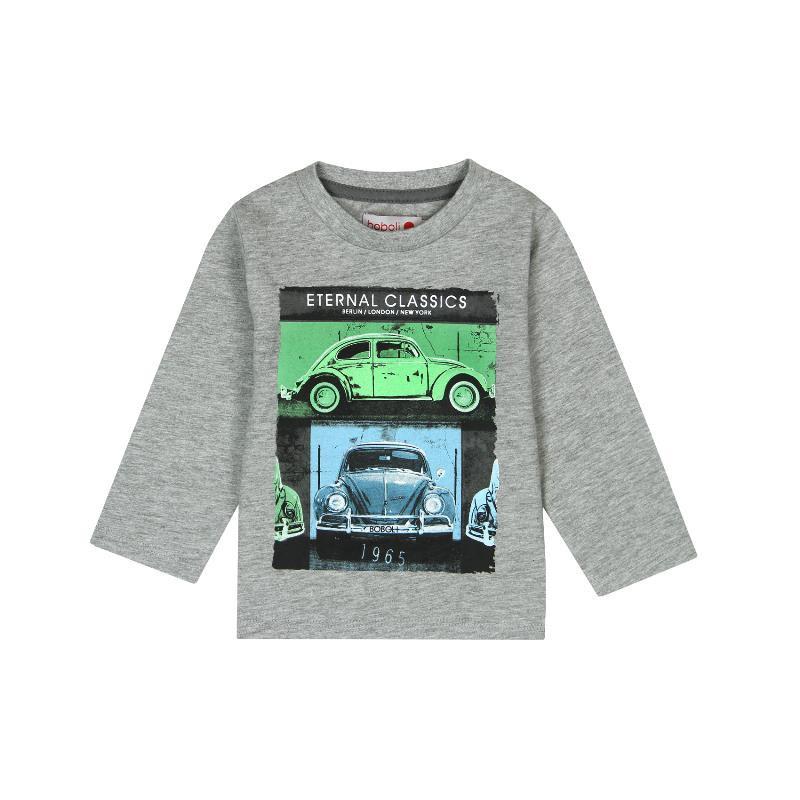 Bluză din bumbac cu mâneci lungi și imprimeu de mașini pentru un băiețel  300