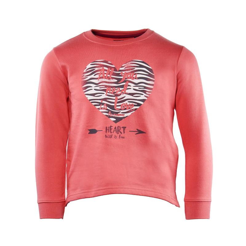 Bluză din bumbac cu mânecă lungă, portacalie,  pentru fete de 6 ani  31127