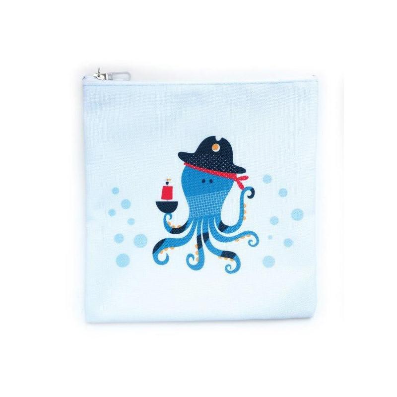 Geantă pentru alimente, Caracatița Pirat, 15 x 20 cm, culoare: Albastru  3133