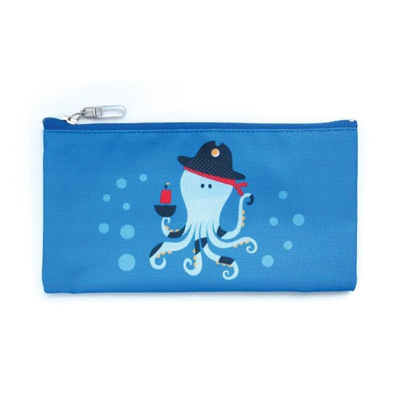 Geanta pentru alimente, caracatiță, 10 x 20 cm, culoare: albastru  3137