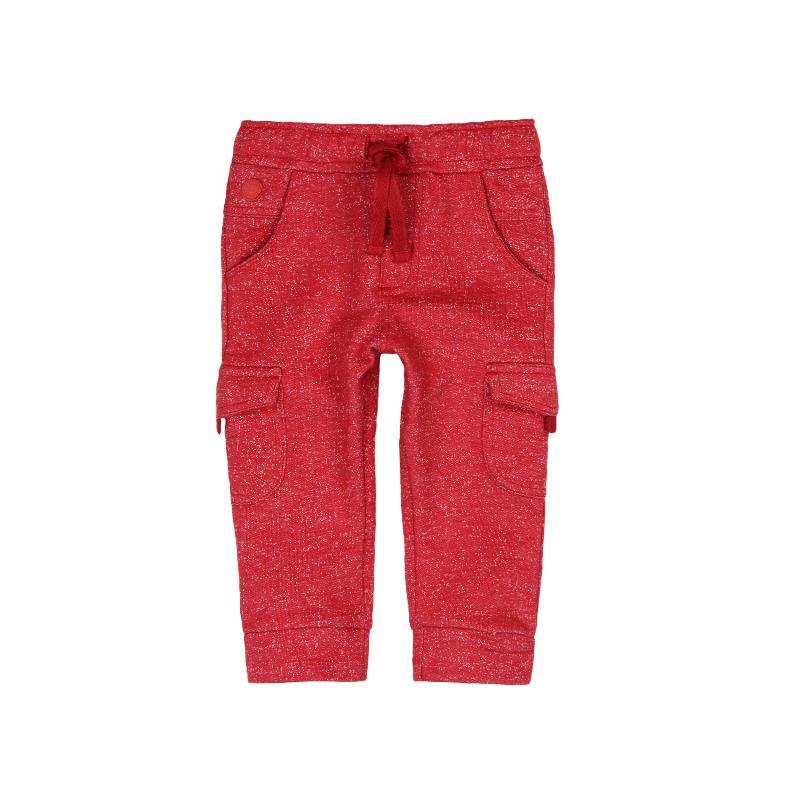 Pantaloni roșii de bumbac cu șnur pentru băieți  316