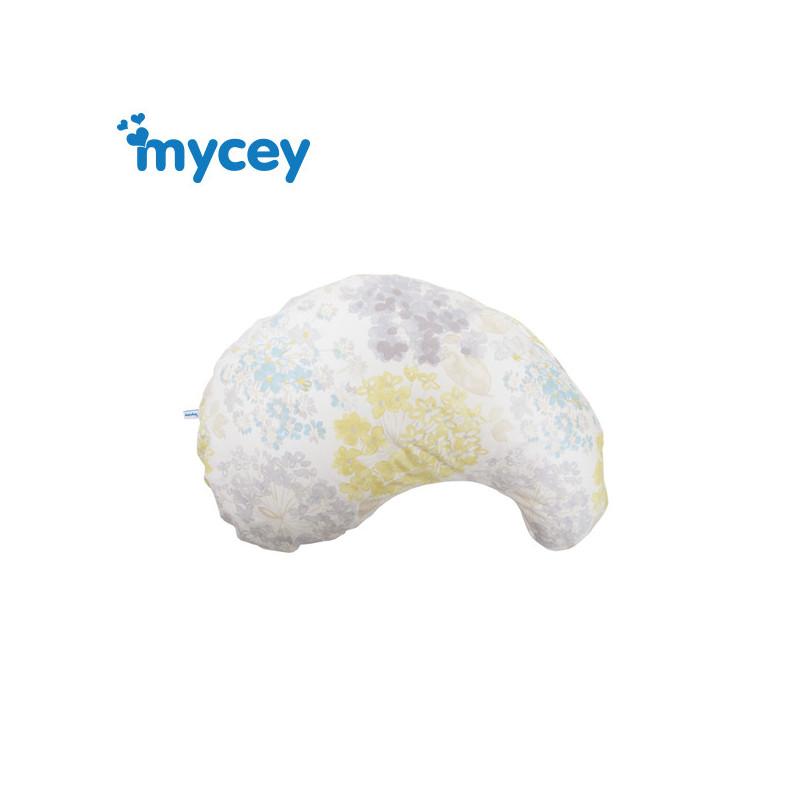 Pernă pentru maternitate din bumbac, 58,6 x 38,6 x 7 cm, de culoare albă  3198