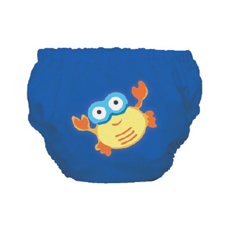 Costum de baie de dimensiuni S în albastru cu imprimeu crab pentru băieței care cântăresc între 9 și 12 kg.  3249