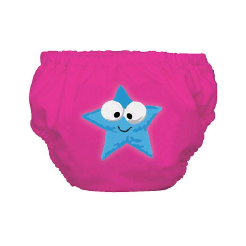 Costum de baie de dimensiunea M în roz cu steluță pentru fetițe cu greutate de 12 până la 14 kg.  3254
