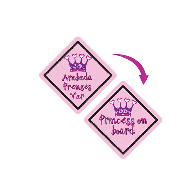 Indicator pentru mașină, Bebeluș la bord,  roz pentru fete  3269