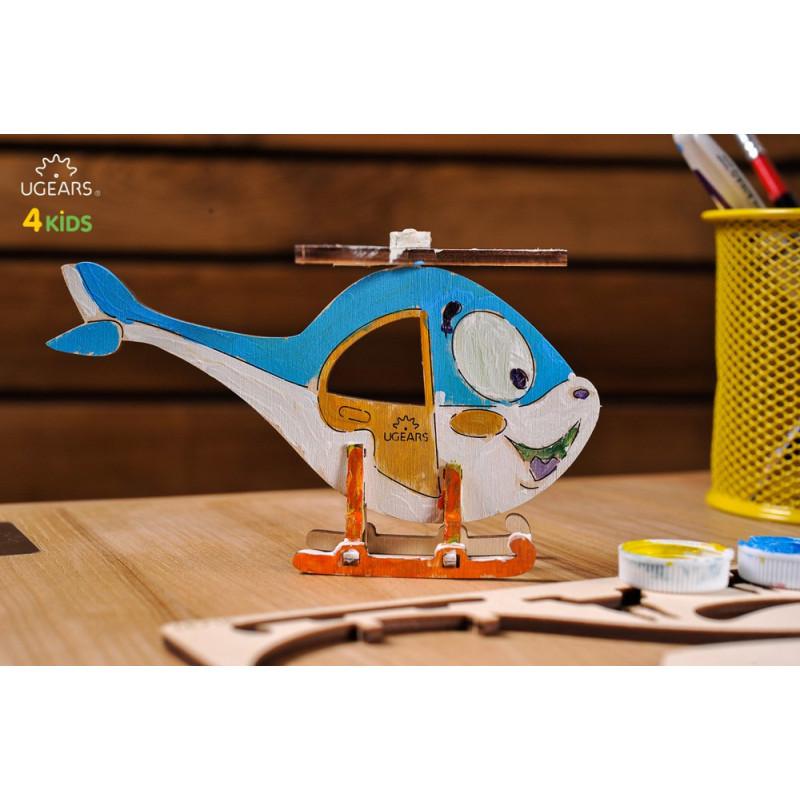 Puzzle mecanic 3D pentru copii, Elicopter  3337