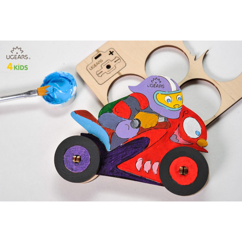 Puzzle mecanic 3D pentru copii, Motocicletă  3339