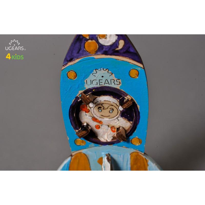 Puzzle mecanic 3D pentru copii, Rachetă  3340