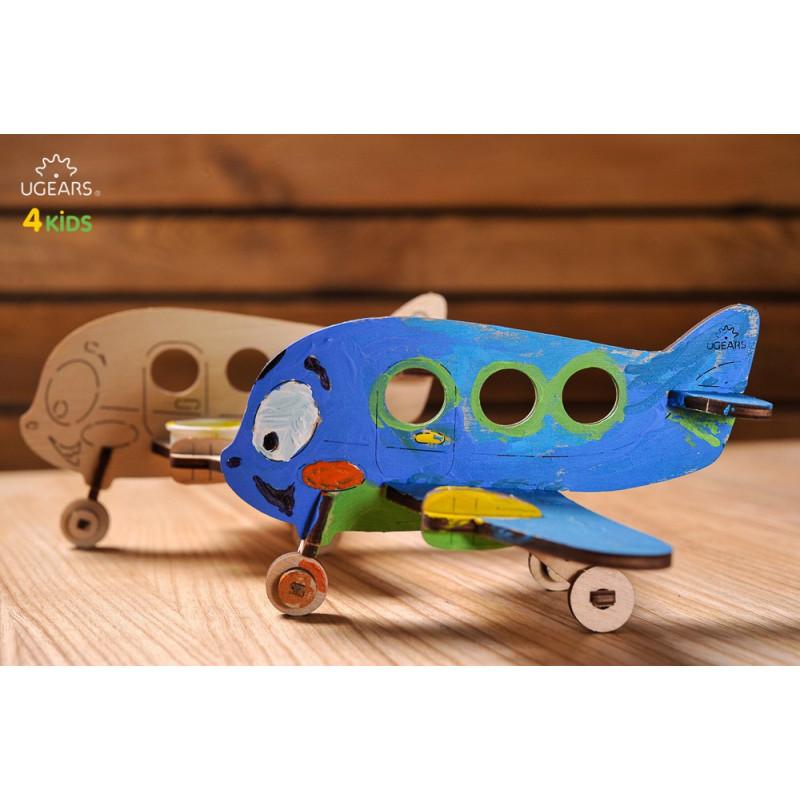 Puzzle mecanic 3D Avion pentru copii  3343